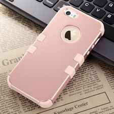 Hybrid Rubber Gel PC Shockproof Rugged Matte Case Cover for Apple iPhone SE 5S 5