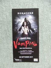 Flyer Musical Tanz der Vampire, ab September 2017 in Wien, Ronacher