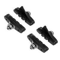 2 Pair Mountain Bike V brake Blocks Black Bicycle BMX Break Shoes Pads 52mm
