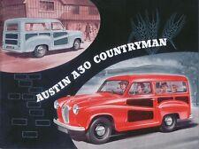 Austin A30 Countryman 1954-56 Original UK Sales Brochure Pub. No. 1137A