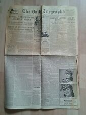 DAILY TELEGRAPH Newspaper WW2- Jun 23rd 1941-Britain Offers Aid to Russia.