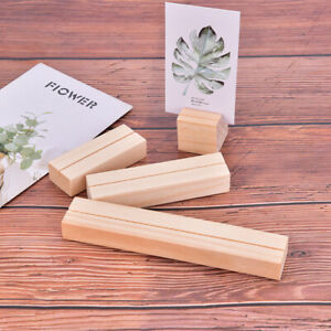Natural Wood Memo Clips Photo Holder Clamps Stand Card Desktop Message CrafY_ec