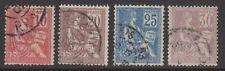 More details for france - 1900, 10c - 30c stamps - g/u - sg 296/9