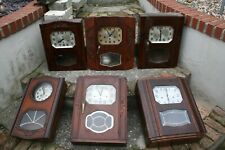 More details for x 6 art deco french westminster chime and striking wall clocks for restoration