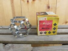 Vintage Metal Cookie Sandwich Cutters Tomado Holland Briko T 1601-3 W/box
