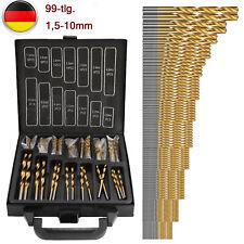 99tlg Metallbohrer Spiralbohrer Spiral-Bohrer Holzbohrer TITAN-HSS Set 1,5-10mm