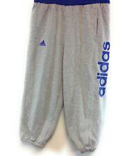 Girls Boys Kids Youth Adidas Fleece BX-R7RQW Grey Blue Joggers Sweat Pants