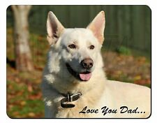 White German Shepherd 'Love You Dad' Computer Mouse Mat Christmas Gift, DAD-133M