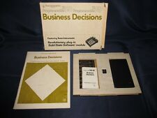 Business Decisions Set in Box #9 - Texas Instruments TI 58 59 Calculator