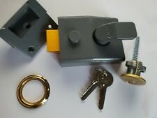 Asec YALE Deadlocking Nightlatch 60mm Backset with Brass Rim Cylinder (AS1708)