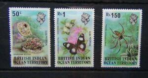 British Indian Ocean Territory 1973 Wildlife set 1st Series MNH