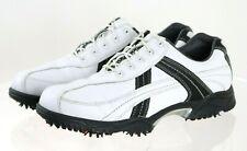 New listing Footjoy Contour Men's Golf Shoes Size 10 Leather White Black