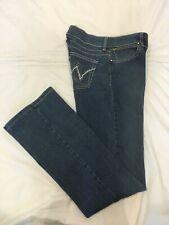 "(*.*) WRANGLER PREMIUM Womens Bootcut Blue Jeans Juniors Size 5 / 6 Inseam 34"""
