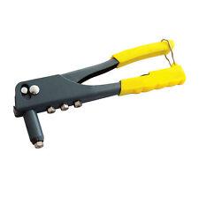 UK HEAVY DUTY 4 HEAD NOZZLE POP RIVET GUN HAND RIVETER TOOL