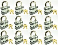 Lock Set by Master 3KA (Lot 12) KEYED ALIKE Commercial Steel Laminated Padlocks