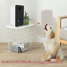 Interactive Pet Dogs Feeder with Voice Full HD Camera Automatic Pets Food Bowl