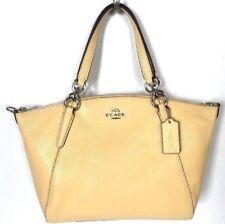 New Coach 31075 small Kelsey Pebble Leather Satchel handbag Vanilla