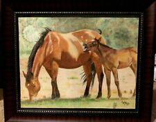 Horse/Mare and Foal Painting 16x20, New, Original,Framed & Signed