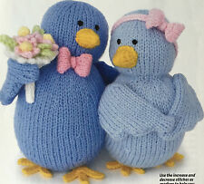 KNITTING PATTERN Alan Dart Love Birds Tweet Hearts Toy Valentines Flower PATTERN