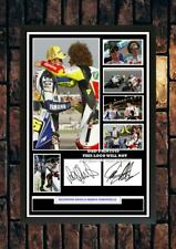 (#358) valentino rossi & marco simoncelli signed a4 photo//framed (reprint) @@@@