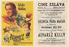 Programa PUBLICITARIO de CINE: ALVAREZ KELLY.