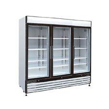 Maxximum Mxm3-72R, 72 Cu.Ft 3-Section Glass Doors Refrigerated Merchandiser