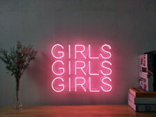 New Girls Girls Girls Neon Sign For Bedroom Wall Home Decor Artwork With Dimmer
