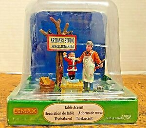LEMAX - Painting Wooden Santas - #13915 - Table Accent - 2011