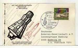 5321) Germany 1962 Space Rocket Special Postmark Kassel