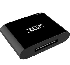 ZIOCOM [Upgrade] 30 Pin Bluetooth Adapter Audio Receiver for iPhone iPod Bose