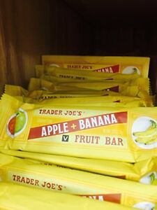 Trader Joe's Gluten Free Apple + Banana Fruit Bars (Pack of 12)