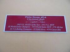 Pete Rose Autograph Nameplate Cincinnati Reds Autograph Jersey Ball Photo