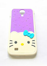 Cover CUSTODIA per SAMSUNG GALAXY S4 HELLO KITTY 3D DIAMONDS BRILLANTINI VIOLA