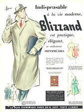 Publicité Advertising 107  1955  imperméable homme Blizzand Boussac