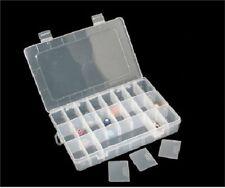 1x 24 caso scomparto di stoccaggio chiaro Charm & Distanziatore Perline Display Box Craft UK