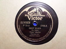 CANADA HMV VICTOR 78 RECORD 27459/ FATS WALLER /DEEP RIVER/LONESOME ROAD/VG+