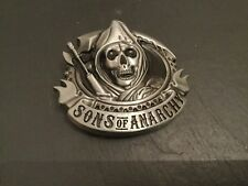 SONS OF ANARCHY Skull Logo New BELT BUCKLE Metal Pewter