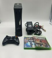 Xbox 360 Elite 120GB Console Bundle Controller, Cords & Game Lot (TESTED)