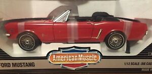 WOW EXTREMELY RARE Ford Mustang Convertible Open Top 1964 Red 1:12 Ertl-F40