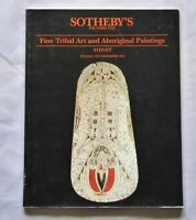 Fine Tribal Art & Aboriginal Paintings Reference Book Sotheby's 1994