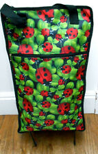 LADYBUG CLOTH GROCERY/LAUNRY SHOPPING BAG WITH WHEELS-CHARMING