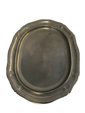 """15""""x12"""" Vintage Pewter Serving Tray Made By Milton Company"""