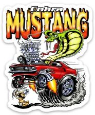 Rat Fink Hot Rod Custom MAGNET Muscle Car Vintage Cobra Ford Mustang Fastback
