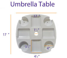 Impact Canopy Beach Umbrella Table Accessories Drink Snack Cup Holders - White