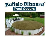 Buffalo Blizzard Round Above Ground Swimming Pool Winter Covers - Choose Size