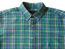 Men's RALPH LAUREN Green Colors Plaid Shirt 2XLT TALL (2LT / 2XT TALL) NWT NEW