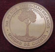 Central America 1970 Gold 50 Pesos UNC 10th Anniversary Economic Integration