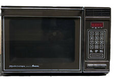 Vtg. Amana Radarange Microwave Oven Touchmatic Chrome Pull Down Door with Tray