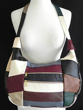 Designer leather Hobo/shoulder bag Multicolor Paching Size M