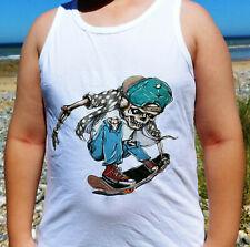 Vests Boys Skull Skateboarding Gift Tops & Shirt